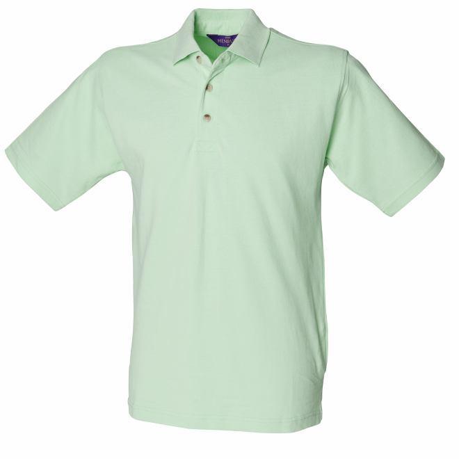 Hb100 henbury classic polo arden winch sheffield nottingham for Apple green dress shirt